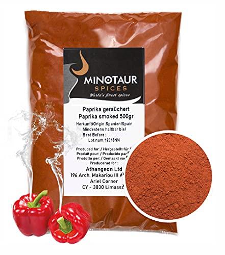 Minotaur Spices | Paprika fumé | 2 x 500 g (1 Kg) Paprika...