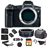 Canon EOS R Mirrorless Digital Camera (Body Only) Bundle with Canon Mount Adapter + 32GB Memory Card + Replacement Battery and More