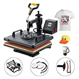 Sfeomi Heat Press 30 x 38cm Multifunctional 5 in 1 Heat Press Machine 360 Degree Swivel Heat Press Machine for...