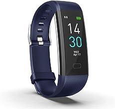 SLuB IP68 Smart Bracelet,Smart Watch with Heart Rate Monitor,Fitness Tracker with Pedometer,Waterproof and Dustproof Blood...