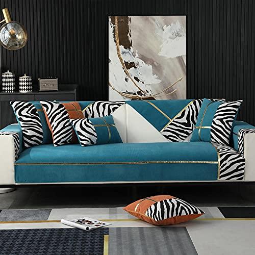 Protector para Sofa Chaise Longue para cojines individuales, fundas de almohada decorativas modernas, fundas de cojines para exteriores Fundas de almohada de lujo para sofá cama azul 35 * 28 inch