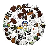 42pcs We Bare Bears Cartoon Anime Stickers Laptop Computer Bedroom Wardrobe Car Skateboard Motorcycle Bicycle Mobile Phone Luggage Guitar DIY Decal (We Bare Bears 42)