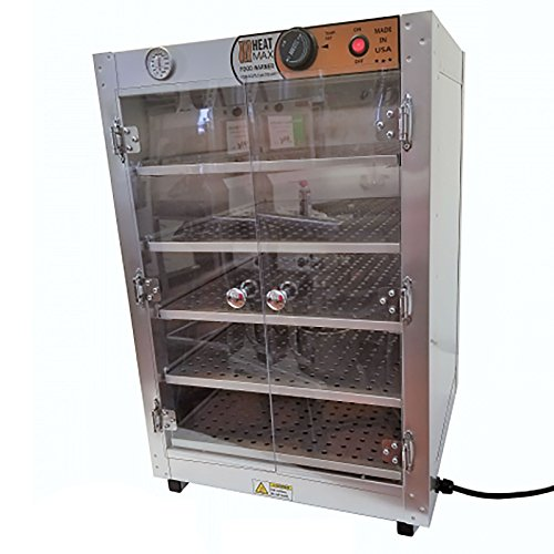 HeatMax 19x19x29 Commercial Food Pizza Pastry Patty Catering Hot Box Countertop Warmer Case, Great for up to 16″ Pizza Fund Raising, shelf is 16″Wx 18.5″D