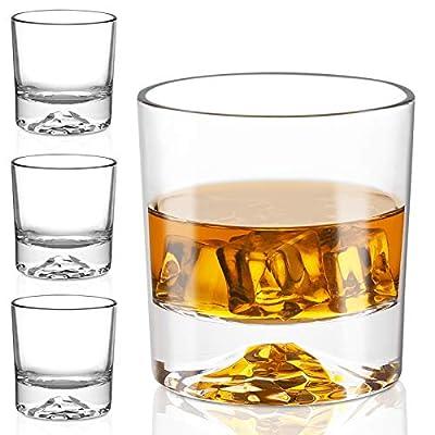 Whiskey Glasses - Premium 10 Ounce Scotch Glasses Set of 6 /Old Fashioned Whiskey Glasses/Style Glassware for Bourbon/Rum glasses/Bar Tumbler Whiskey Glasses (2020 NEWEST DESIGN)