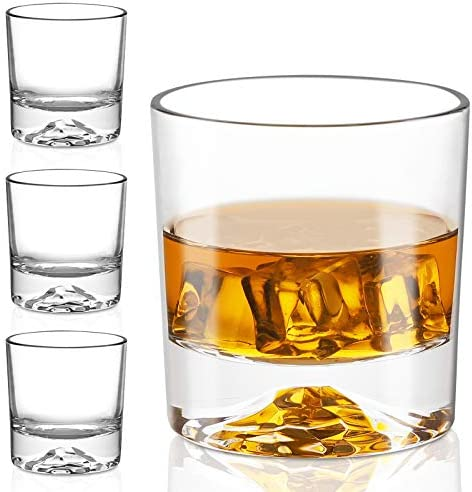 Whiskey Glasses Premium 10 Ounce Scotch Glasses Set of 6 Old Fashioned Whiskey Glasses Style product image
