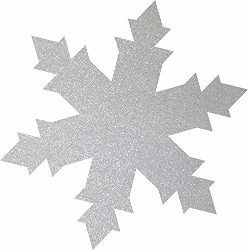 Petra S Bricolage-News 50 x Glace Cristal 40 mm en Feutre Gliter Couleur Streudeko FLIZ, Blanc, 18 x 12 x 3 cm