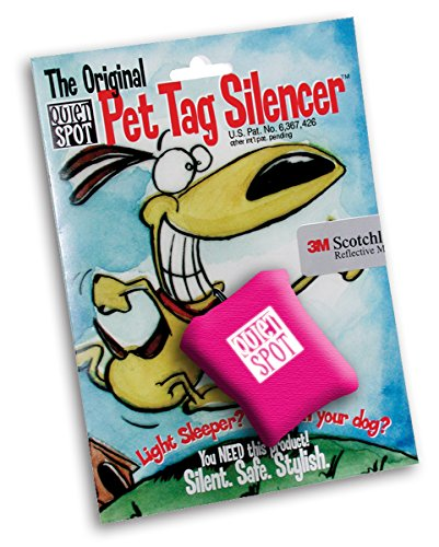 Quiet Spot Pet Tag Silencer (Pink)