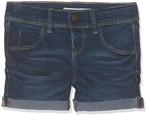 Name IT NOS Mädchen NKFSALLI DNMTALINE 3154 NOOS Shorts, Blau (Dark Blue Denim), (Herstellergröße: 110)