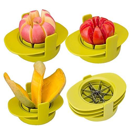 Cortador de frutas y verduras con base común, juego de pelador 4 en 1, pera, mango, tomate, guayaba, naranja, Pitaya