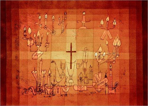 Poster 80 x 60 cm: Haeusliches Requiem von Paul Klee/akg-Images - hochwertiger Kunstdruck, neues...