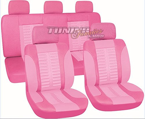 Sitzbezug Sitzbezüge Schonbezüge Bezug Sitz Pink / Rosa SET Universal Universell für viele Fahrzeuge