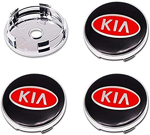 4 Piezas Tapas centrales, para KIA K2 K3 K5 Sorento Sportage R Rio Coche Central Llanta Rueda Cubre Embellecedor Insignia
