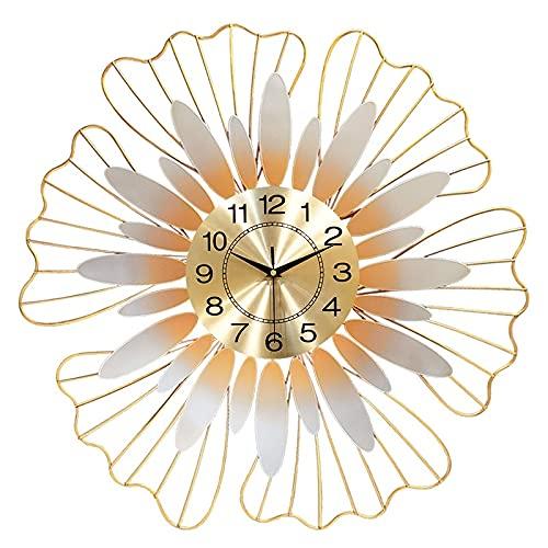 JINGZI Reloj de pared de sol de lujo de metal, reloj de pared silencioso, reloj de pared moderno de estilo bohemio, utilizado en sala de estar, dormitorio, comedor, decoración de la pared del hotel 70