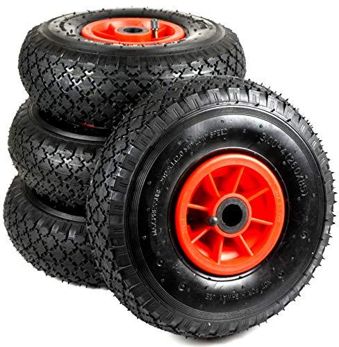 Rueda de carretilla 3.00-4, 260 x 85, rueda de repuesto 1, 2 o 4 neumáticos de aire (4)