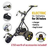 Rider Electric Golf Trolley (Black & Yellow)