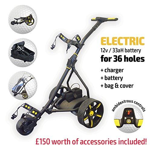 Rider Electric Golf Trolley (Black & Yellow)