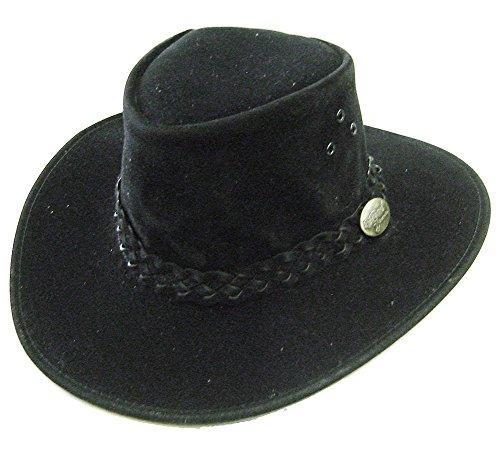 Modestone Unisex Jacaru Polysuede Soak in Water Keep Cool Chapeaux Cowboy Black