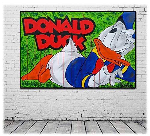 Puzzle 1000 teile Graffiti Pop Art Donald Duck Kunstmalerei puzzle 1000 teile Pädagogisches intellektuelles Stressabbau-Spielzeug-Puzzle Great Holiday Leisure , Interaktive F50x75cm(20x30inch)
