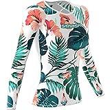 SMMASH Hawaii Sportiva Magliette Donna Manica Lunga, Yoga, Crossfit, Camicia Funzionale Top da Palestra, Gym Home, Materiale Antibatterico, Prodotto nell'Unione Europea (M)
