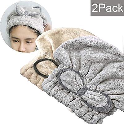 SweetCat Microfiber Hair Drying Towel Cap...