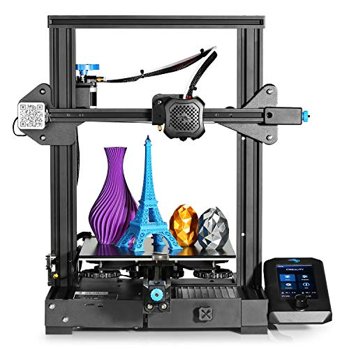 Creality Ender 3 V2 3D Printer Upgraded Version of Ender 3 Pro: 32-bit Silent Motherboard, Carborundum Glass Bed, Resume Printing, Build Volume 220 x 220 x 250mm, Ideal for Beginners