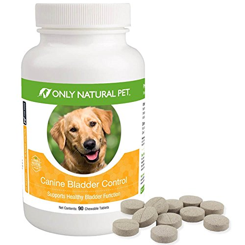 Only Natural Pet Canine Bladder Control for Dogs - Helps with Pet Incontinence and Strengthen Bladder - 90 Chewable Tablet Pills