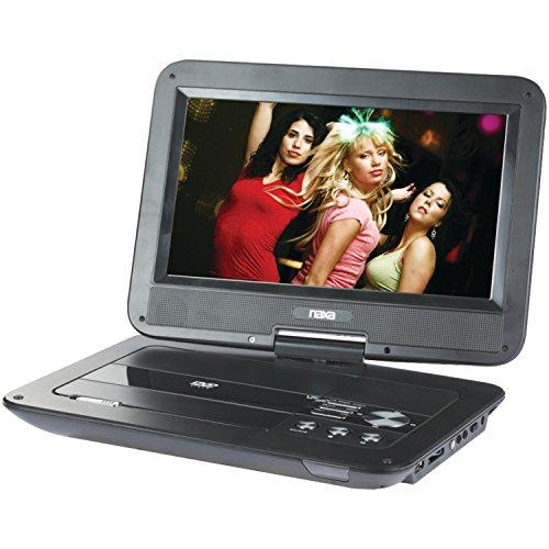 Naxa Electronics NPD-1003 - Reproductor de DVD portátil con visualización giratoria TFT LCD de 10 Pulgadas con entradas USB/SD/MMC
