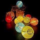 OKESYO Cadena de luces solares para exteriores, luces LED impermeables, luces solares para exteriores, alambre de cobre de nailon y goma de PVC (6,5 m)