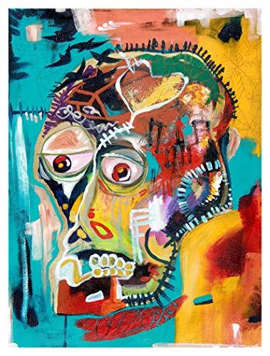 JH Lacrocon Peintures à la Main Oeuvres Von Jean-Michel Basquiat - 90X120 cm Reproduction Toile Graffiti Poster Roulée