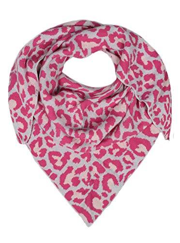 Zwillingsherz Dreieckstuch mit Kaschmir- Hochwertiger Schal im dezenten Leo Design für Damen Jungen und Mädchen - Hals-Tuch und Damenschal - Strick-Waren für Sommer und Winter pink