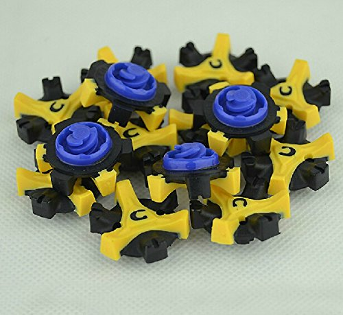 SieveBetter(TM) 28pcs Champ Spikes Stinger Scorpion Fast Twist TRI LOK For Foot Joy Blue