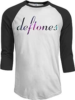 JeremiahR Deftones Men's 3/4 Sleeve Raglan Baseball T Shirt Black