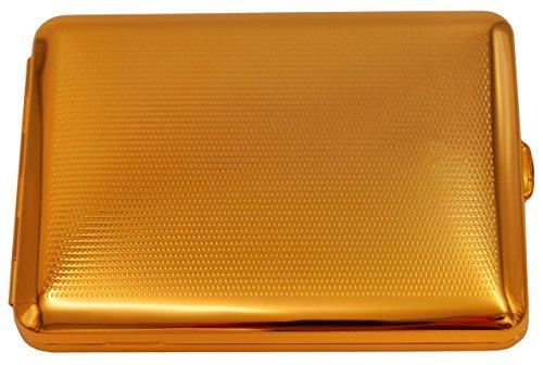 GERMANUS Zigarettenetui, Made in Germany, 100 mm, Mit echtem Gold vergoldet, Motiv P