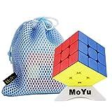 Moyu OJIN 2020 WEILONG WR M 3x3 Weilong WR Enhanced WRM 3x3 Cube Puzzle Smooth Cube Sistema di Doppia Regolazione Puzzle con Una Borsa cubo e Un treppiede cubo (Senza Adesivo)