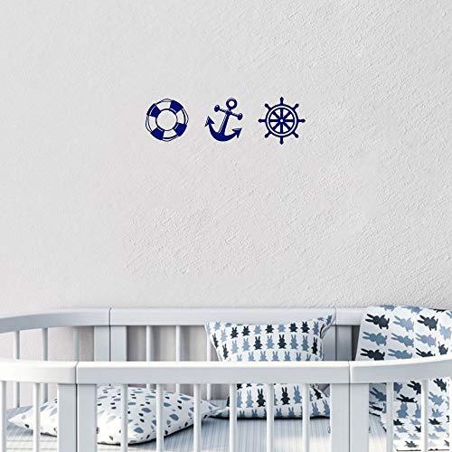 Aufkleber für Kinder Nautische Schiff Rad Anker Rettungsring Aufkleber Wohnzimmer Carving Aufkleber Für Kinderzimmer Home Window Decor