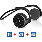 Bluetooth Headphones 4.1 Wireless Sports Headphone,High Quality Bluetooth Headset,Mini On-ear Wireless earphones with Mic,Support TF card(up to 32G),Support FM Function,mart voice prompt and point