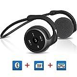 Bluetooth Kopfhörer Headset V4.1 FM Radio Wireless Kopfhörer Sport mit Mikrofon Unterstützung für TF-Karten (32G) Radio-Funktion Intelligente Sprachaufforderung
