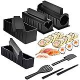 Mlryh Kit para Hacer Sushi 12 Piezas de Moldes Sushi Maker Kit de Sushi Molde de Rollo de Arroz Sushi Maker DIY Juego Completo de Cocina Adecuado para Principiantes