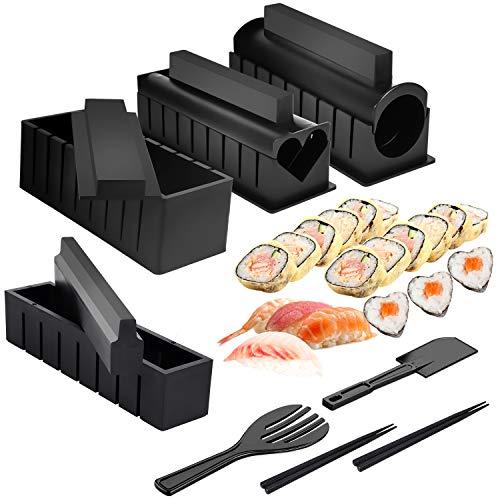 Mlryh Sushi Maker Kit 12 Pezzi Stampi per Sushi Kit per Preparazione Sushi set Kit Rulli per Riso Sushi Sushi Maker Cucina DIY Set Completo Adatto per Principianti