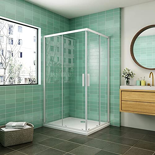 Cabina de ducha mampara de ducha corredera puerta 5mm cristal Aica 90x70cm