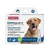 BEAPHAR – CANIGUARD - Line-on à la Perméthrine pour chien moyen et grand chien (15-30 kg) – Action curative et préventive contre les tiques, les phlébotomes et les puces - 6 pipettes de 4 ml