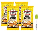 Louisiana Fish Fry Seasoned Beer Batter Mix 8.5 oz (Pack of 4) Bundled with Prime Time Direct...