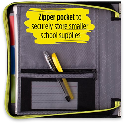 Five Star 2 Inch Zipper Binder, 3 Ring Binder, Removable File Folders, Durable, Black (73289) Photo #3