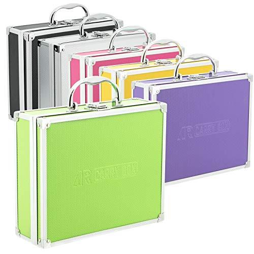 Caja de aluminio para maletas de diferentes colores con relleno de espuma, Verde