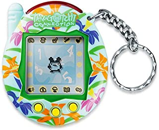 Green with Rainbow Lillies: Tamagotchi Connection Version 3