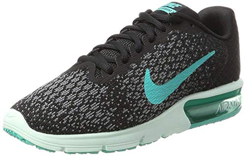 Nike Womens Air Max Sequent 2 Running Trainers 852465 Sneakers Shoes (UK 6 US 8.5 EU 40, Black Black Black 015)