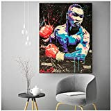 Chihie Boxen Mike Tyson Abstrakte Wandkunst Malerei Poster