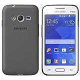 Custodia in Silicone/Silicone Case Samsung G313HN Galaxy Trend 2 / Galaxy Ace 4 / Galaxy Ace NXT/Galaxy Ace 4 LTE/Galaxy S DUOS 3 / Galaxy V/Galaxy V Plus (Nero Trasparente)