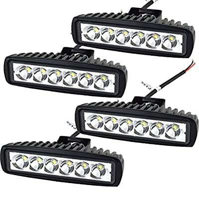 AUXTINGS 12 Inch 72W LED Light Bar 5D Lens Spot Flood Combo Beam Waterproof Dual Row LED Work Diving Lights for Off Road Jeep ATV AWD SUV 4WD 4x4 Pickup
