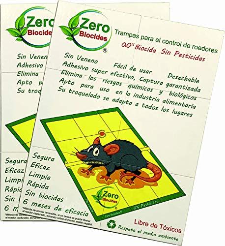 Zero Biocides Lote 2 Trampas para Ratas tamaño Grandes y atrayente incorporando Fabricadas en España